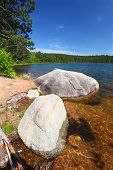 pic of legion  - Huge boulder along the shoreline of Buffalo Lake in the Northern Highland - JPG