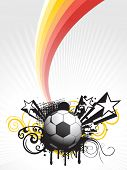grey ray background with colorful stripes, soccer, grunge, star and artistic design