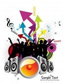 abstract futuristic pattern musical background