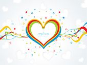 picture of corazon  - vector illustration of romantic background with sample text - JPG