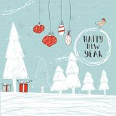 Christmas Illustration With Handdrawn Lettering poster