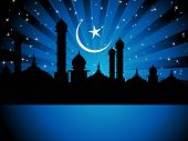 picture of ramadan kareem  - vector illustration of religious eid background - JPG