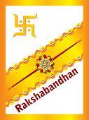 abstract rakshabandhan background, vector illustration