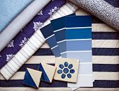 Blue & White Interior Decoration Plan