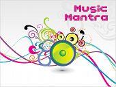 Fondo de mantra de colorido de la música, vector illustration