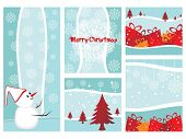 Vector Illustration Of Merry Xmas And Happy New Year Collection