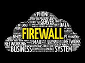 Firewall Word Cloud Collage poster