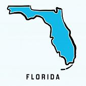 Florida Map Outline poster