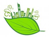 picture of environmentally friendly  - vector illustration of environmental concept wallpaper - JPG
