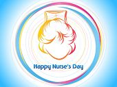 abstract happy nurse's day celebration, illustration