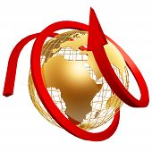 Golden Globe And Arrow