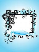 abstract skyblue background with creative artwork decorated frame