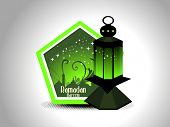 abstract ramazan background with lantern