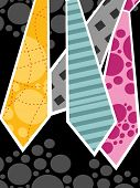 abstract black background with colorful tie, vector illustration
