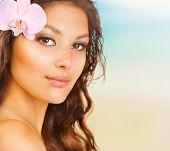 Beauty Summer Girl on the Beach