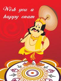 image of pookolam  - beautiful illustration for happy onam - JPG