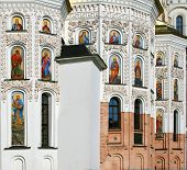 Great christian temple of Kiev Pechersk Lavra, Kiev, Ukraine. Also known as the Kiev Monastery of the Caves poster