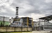 Chernobyl nuclear power station. 4-th block. Ukraine