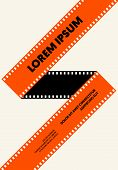 Movie And Film Poster Modern Vintage Retro Style. Graphic Design Template Can Be Used For Background poster