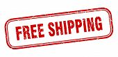 Free Shipping Stamp. Free Shipping Square Grunge Sign. Free Shipping poster
