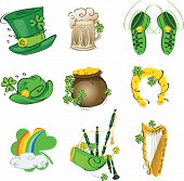image of bagpipes  - The character set of the holiday St - JPG