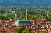 View Of Vicenza Historic Center With The Famous Renaissance Basilica Palladiana poster