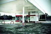 Closed gas station
