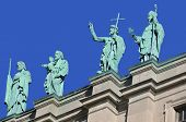 Statues on the Cathedral-Basilica of Mary Queen of the World