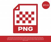 Red Png File Document Icon. Download Png Button Icon Isolated On White Background. Png File Symbol.  poster