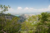 stock photo of lax  - The Haute Provence with a view on the Lax Sainte Croix - JPG