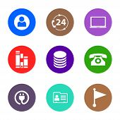 Icon Pack. Contact Person Icon, 24 Hours Icon, Laptop Icon, Archive Icon, Database Icon, Phone Icon, poster