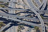 stock photo of underpass  - Aerial view of the Mini Stack Interchange - JPG