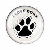 picture of dog footprint  - Show your love for dogs with this paw print - JPG