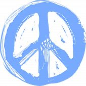 Peace Hippie Symbol Doodle Art. Freedom, Spirituality, Occultism, Textiles Art. Vector Illustration  poster