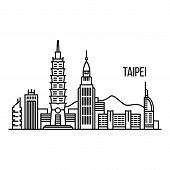Taipei Metropolis Concept Background. Outline Illustration Of Taipei Metropolis Vector Concept Backg poster