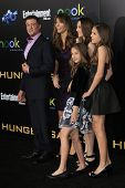LOS ANGELES, CA - MAR 12: Sylvester Stallone, Jennifer Flavin, daughters at the premiere of Lionsgate's 'The Hunger Games' at Nokia Theater L.A. Live on March 12, 2012 in Los Angeles, California
