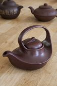 Rustic Asian ceramic teapots