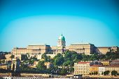 Buda Castle Royal Palace In Budapest City. poster