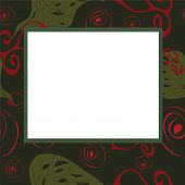 Abstract Frame With Green And Red Elements