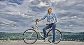 Benefits Of Cycling Every Day. Girl Ride Cruiser Bicycle. Health Benefits Of Cycling. Reasons To Rid poster
