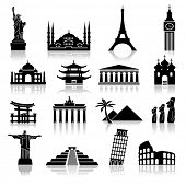 image of india gate  - set of icons on the topic of travel and recreation - JPG
