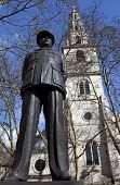 Bomber Harris Statue and St Clement Danes Church