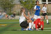 Meisjes Varsity Soccer botsing 2