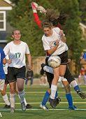 Meisjes Hs Varsity voetbal actie