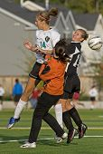 Meisjes Hs Varsity voetbal blokkeren