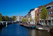 Постер, плакат: Один из каналов в Амстердаме
