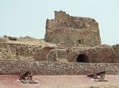 Iran, Hormuz Island Portuguese mighty fortress 500 years old ruins