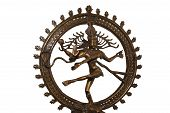 Indian Hindu God Shiva Nataraja - Lord Of Dance Statue Isolated On White