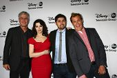 LOS ANGELES - JAN 10:  Anthony Bourdain, Nigella Lawson, Ludo Lefebvre, Brian Malarkey attends the A