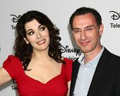 LOS ANGELES - JAN 10:  Nigella Lawson, Paul Lee attends the ABC TCA Winter 2013 Party at Langham Hun